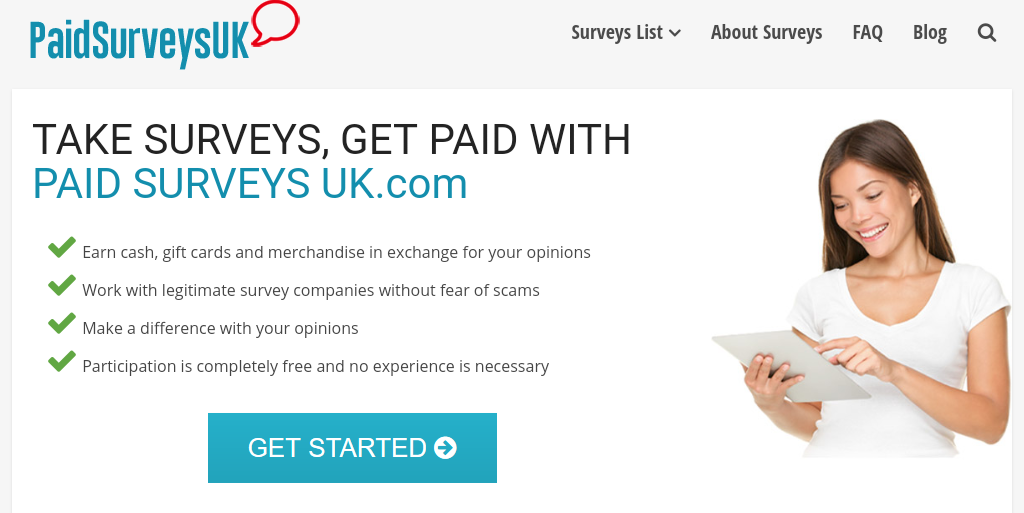 Is Paid Surveys UK Main Page