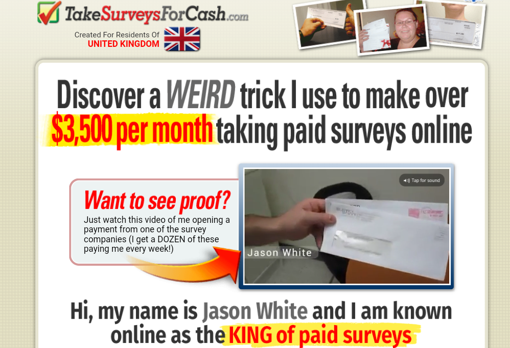 Take Surveys For Cash Scam
