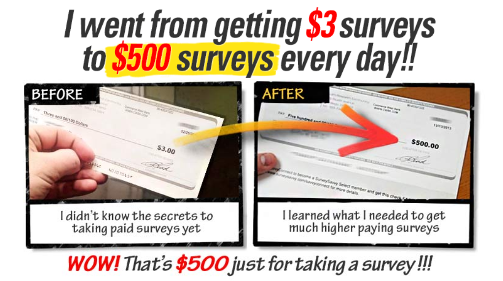 Take Surveys For Cash $500 a survey