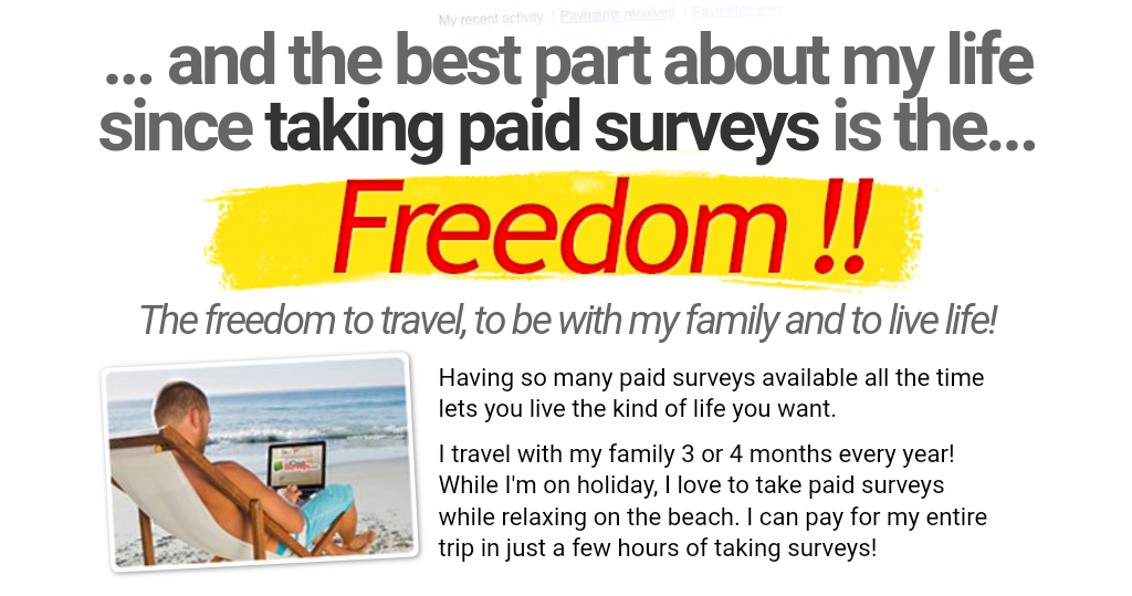 Take Surveys For Cash Freedom