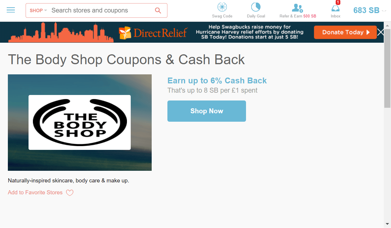 Swagbucks Shop and Earn