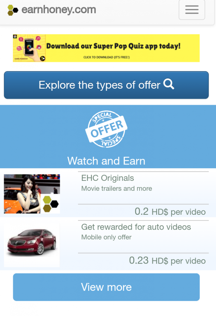 What Is Earnhoney about – Are They A Legitimate Rewards Site