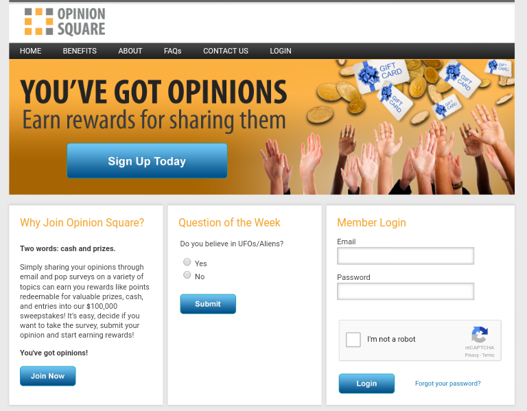 Opinion Square Main Page