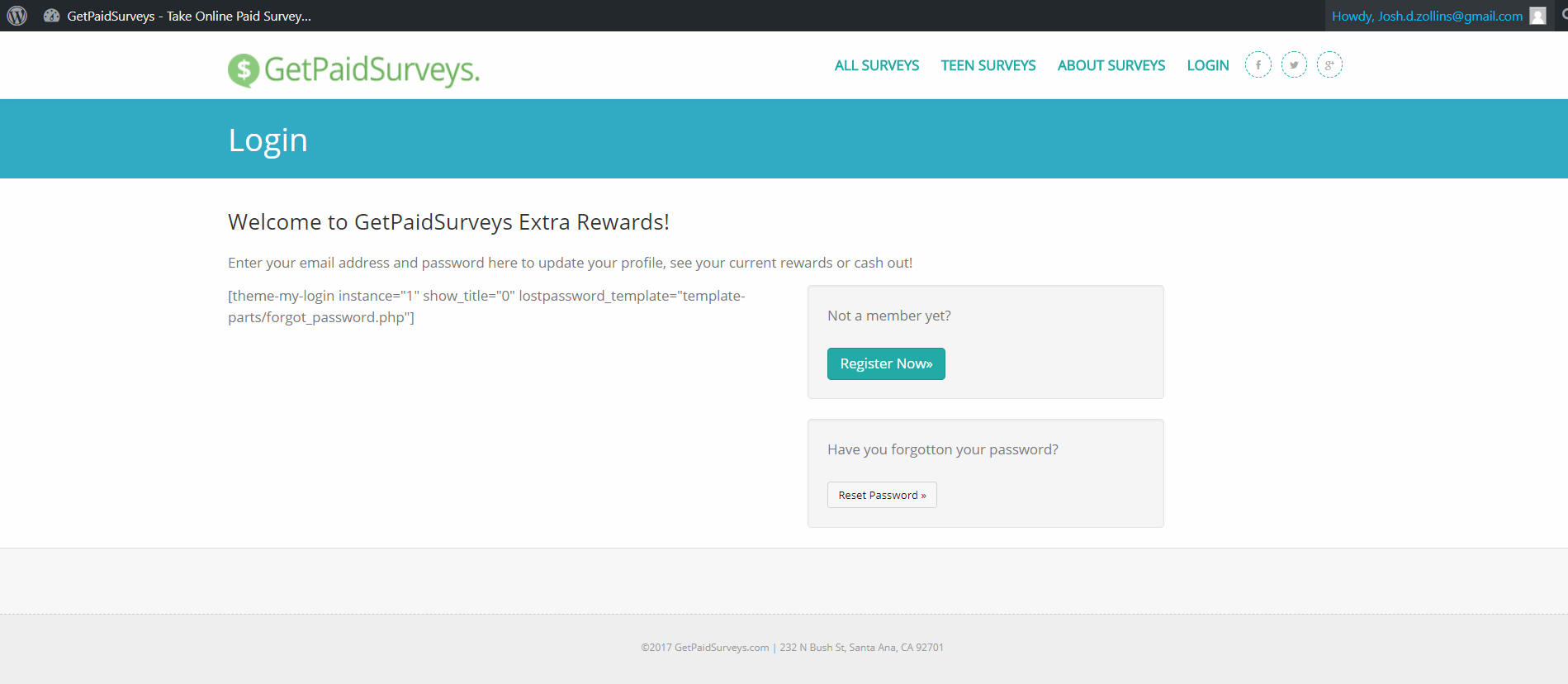 GetPaidSurveys Logged In