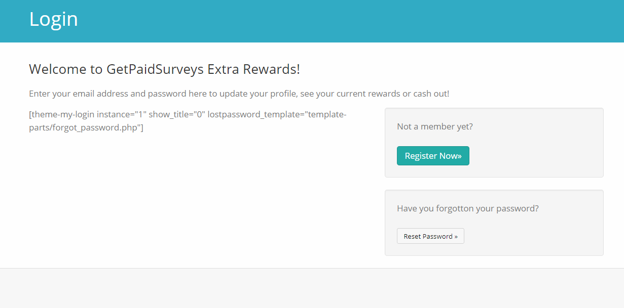 GetPaidSurveys Login